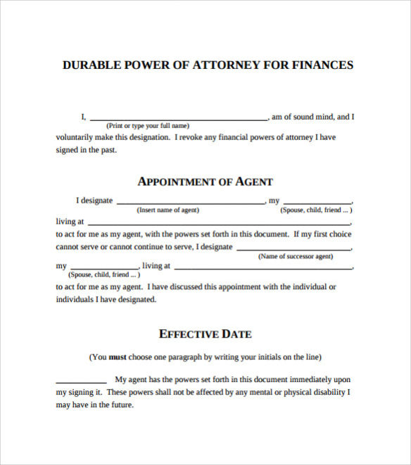 Sample Power Of Attorney Letter Template Business