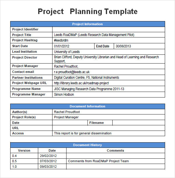 Sample Project Plan Outsourcing Project Plan Template Service - Project Plan Sample