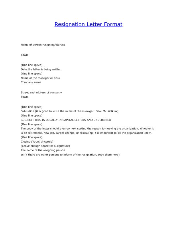 Sample Resignation Email Template Business