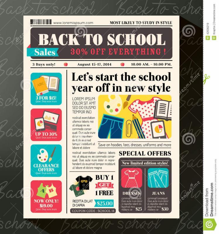 School Newspaper Template Template Business