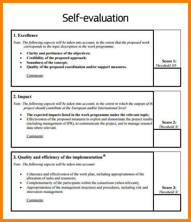 sample of a self assessment - Josemulinohouse - sample self assessment