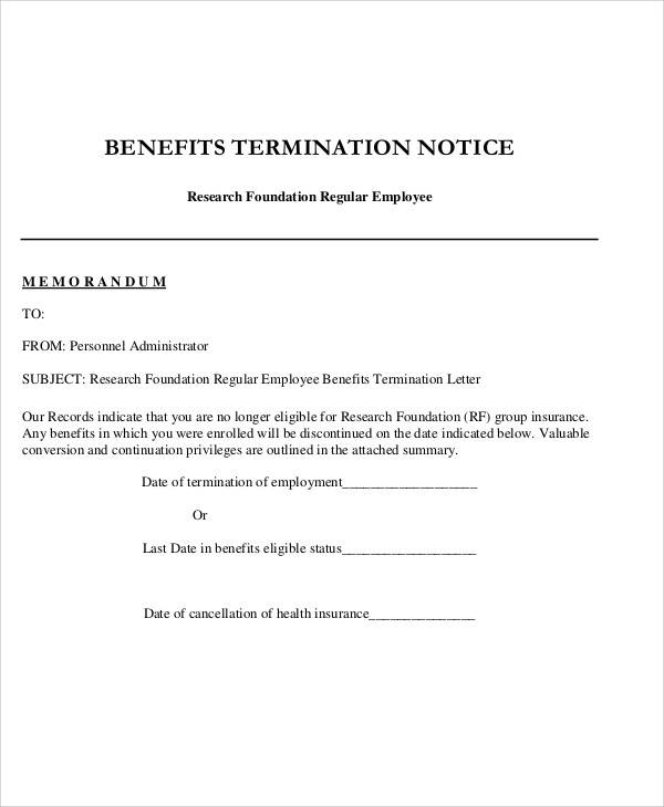 Service Cancellation Letter Template Business