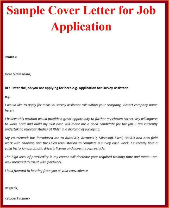 Simple Cover Letter Format Template Business