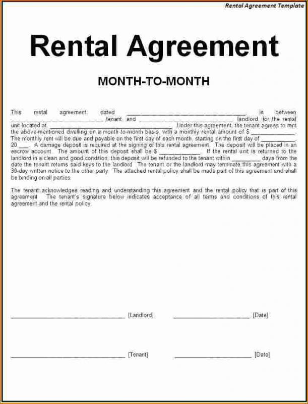 Simple One Page Lease Agreement Template Business