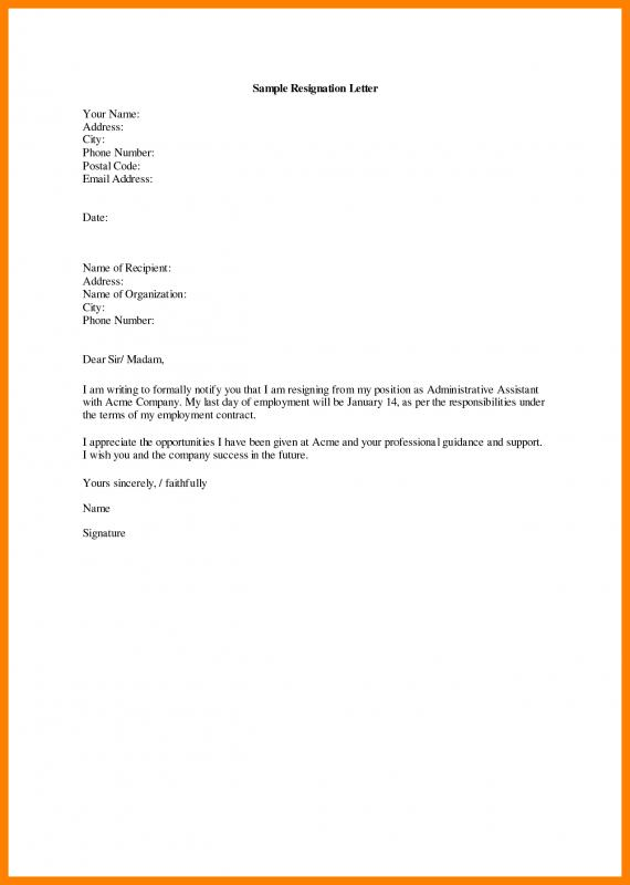 Resignation Letters Best Solutions Of Heartfelt Resignation Letter