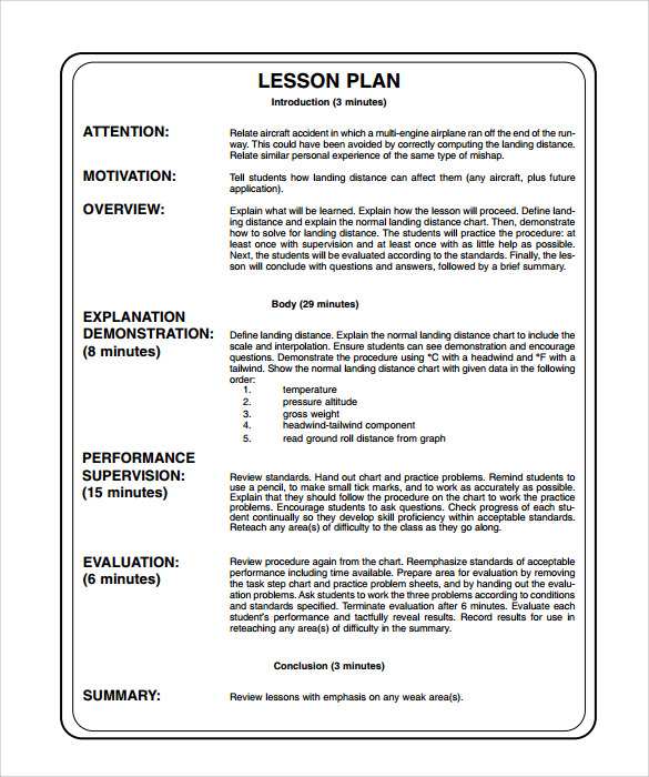 Siop Lesson Plan Examples Template Business