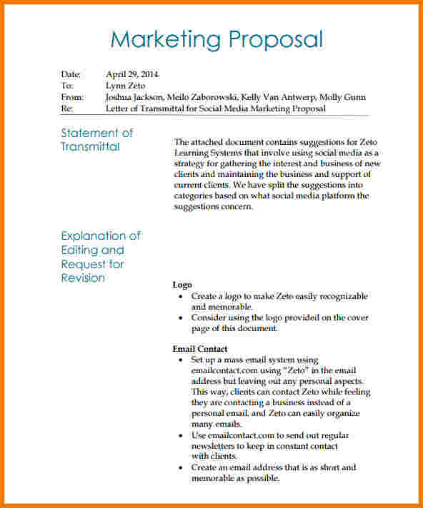 social media marketing proposals I Will Tell You The Truth - marketing proposal letter