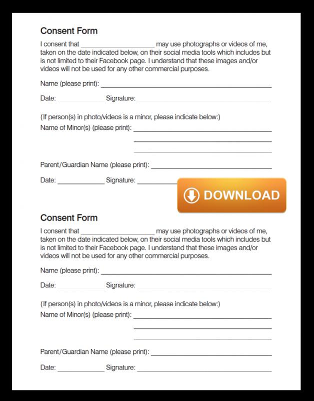 Social Media Release Form Template Business