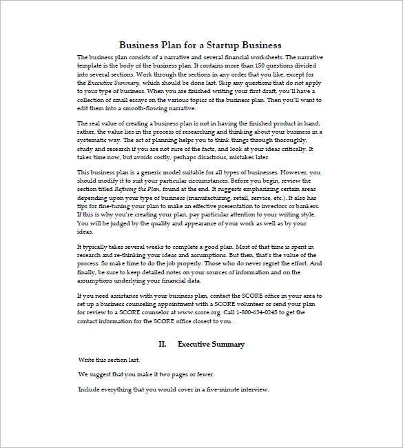 Setup Business Plan Startup Business Plan Peccadillous Non Profit
