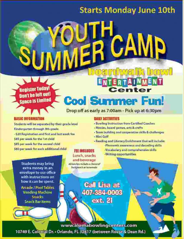 Summer Camp Flyer Template Kicksneakers