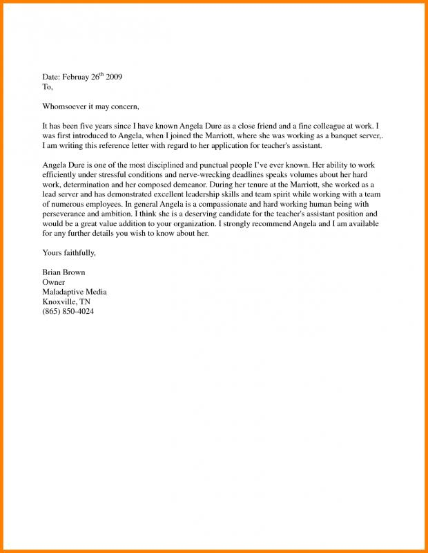 Support Letter Sample For Immigration Template Business
