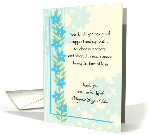 Sympathy Thank You Notes To Coworkers Template Business