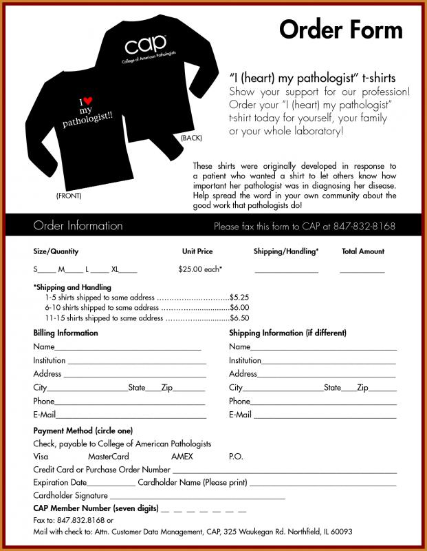 T Shirt Order Form Template Template Business