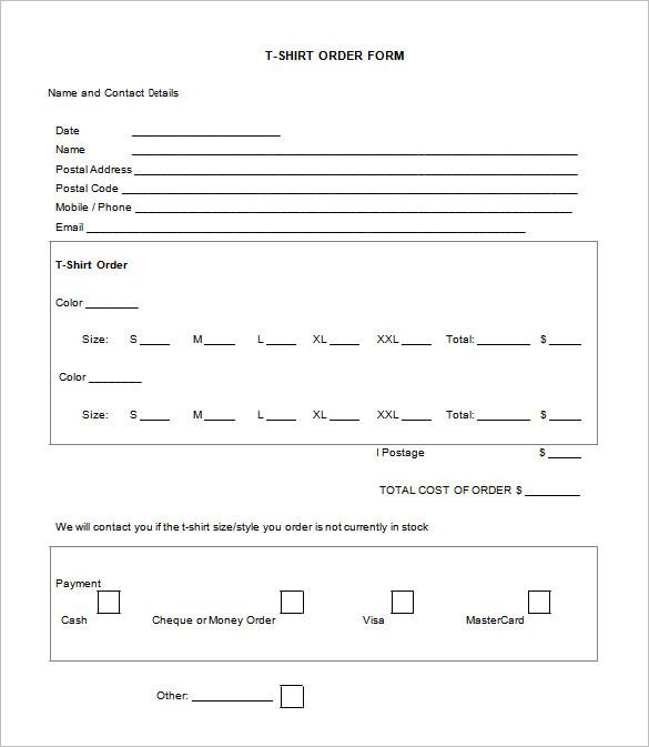 t shirt order form template doc - Baskanidai - t shirt order forms