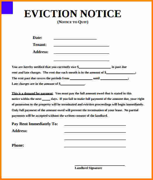 How To Write An Eviction Notice Letter Gallery - Letter Format