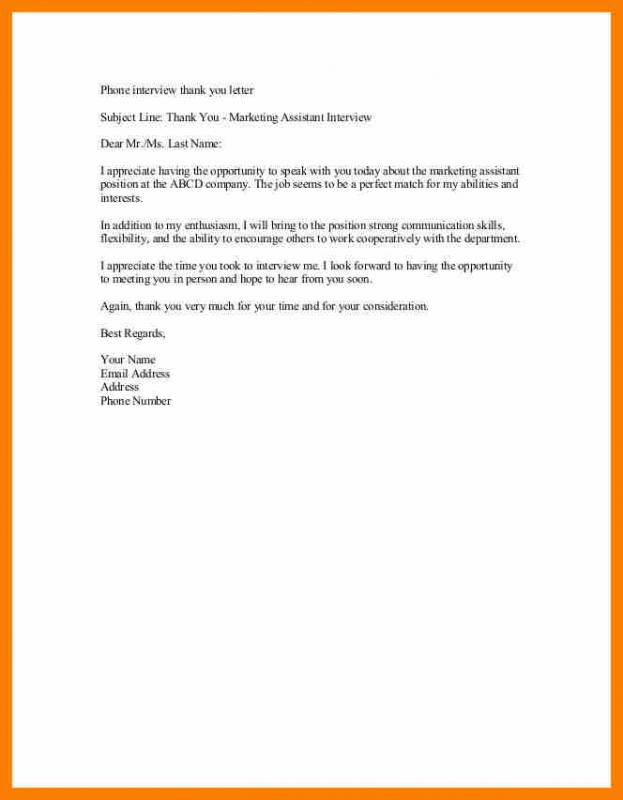 Thank You Email After Interview Sample Template Business