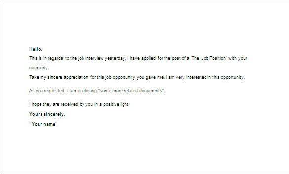 Email After Job Rejection - Arch-times