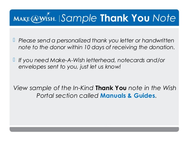 thank you letter after receiving donation - Mersnproforum