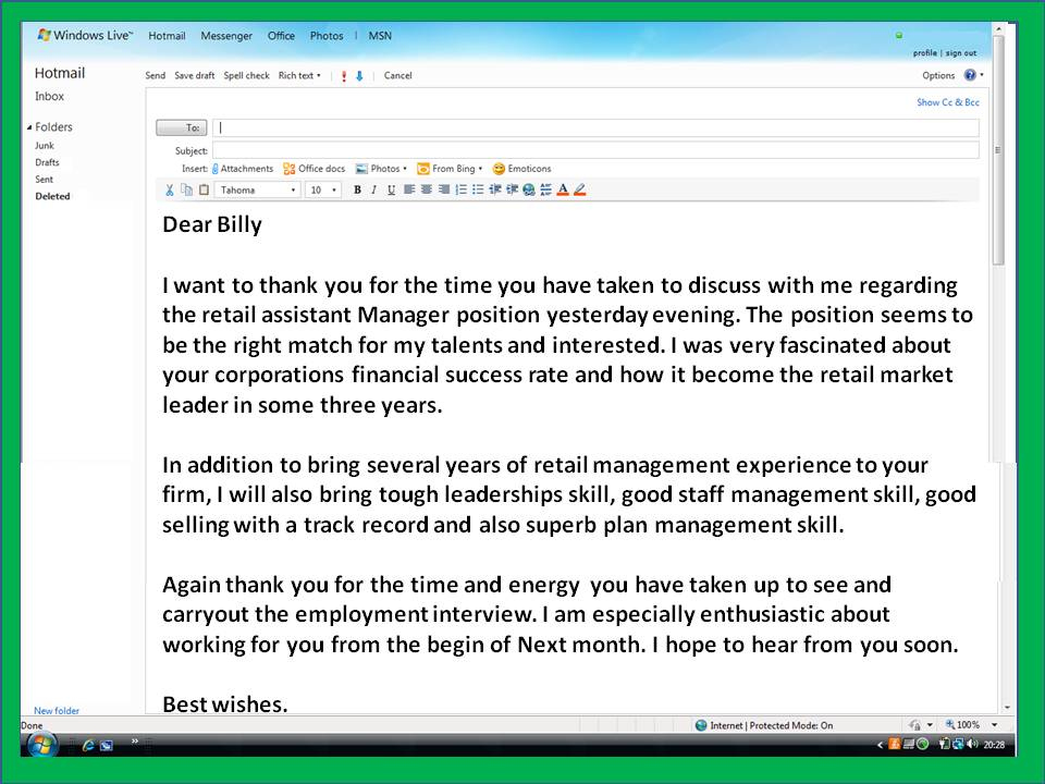 Thank You Letter After Interview Email Template Business - Thank You Note After Interview Sample
