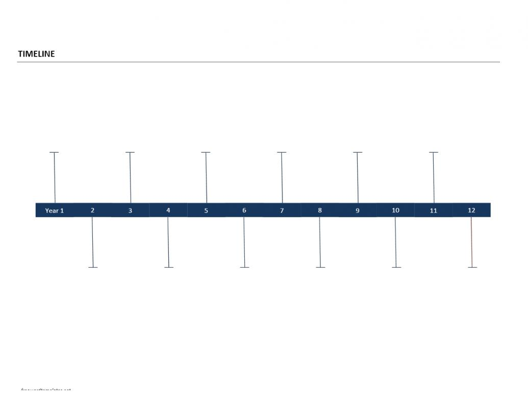 Timeline Template Word Template Business