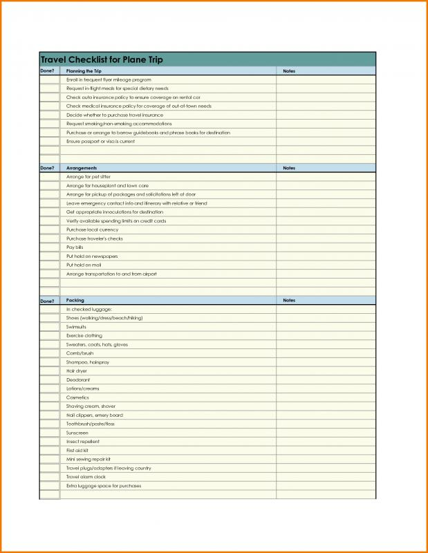 Travel Planner Template Template Business