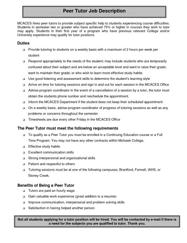 ... Tutor Resume Sample Template Business ...