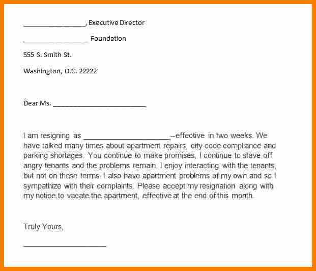 Two Weeks Notice Sample Template Business