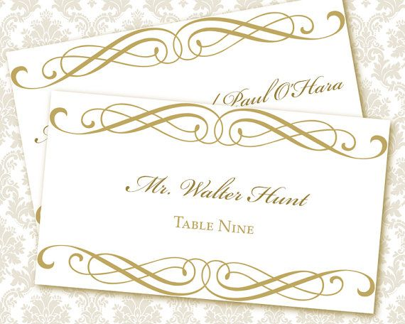Wedding Place Card Template Template Business