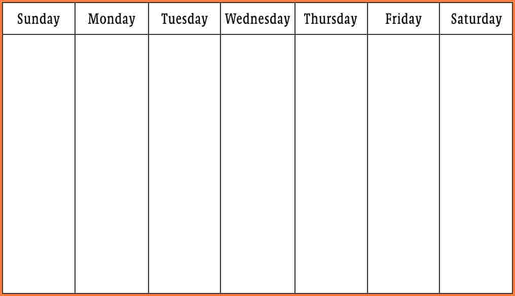 Weekly Schedule Template Word Template Business