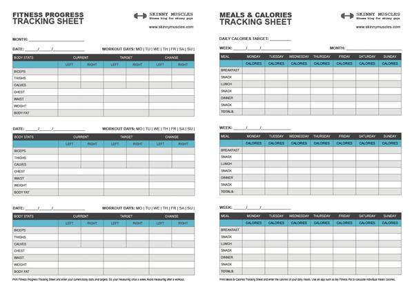 Weight Tracker Chart Template Business