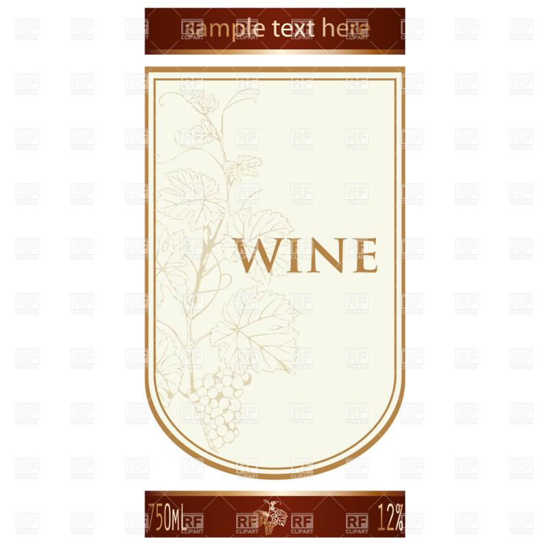 Wine Label Template Template Business