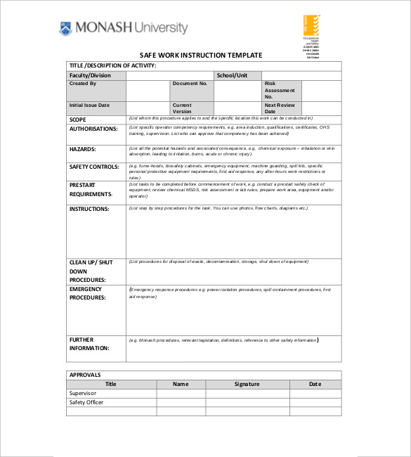 instruction manual template free download - Funfpandroid