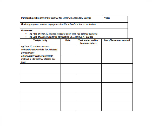 Impressive Business Action Plan Template For Long Term Goals With - work templates