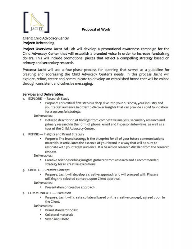 Work Proposal Template Template Business