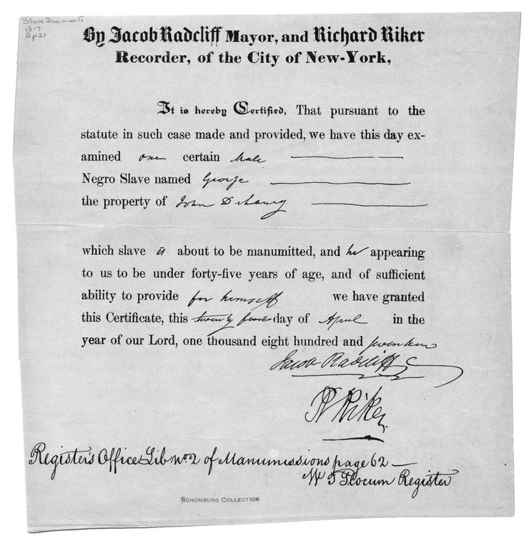 Manumission Certificate, Identity 2, Slave to Free, The Making of