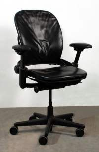 Steelcase Leap Used Leather Task Chair, Black | National ...