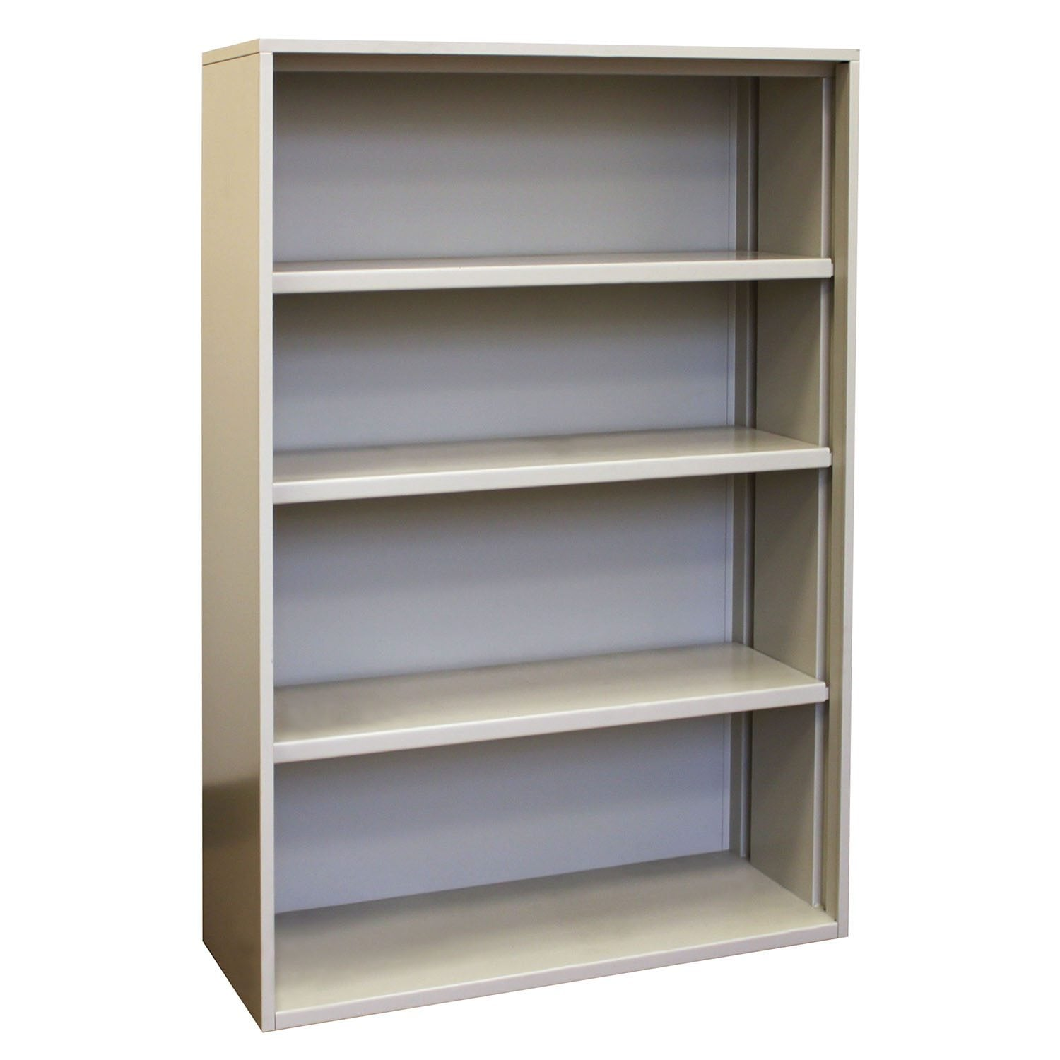 Aluminum Bookcase Metal 4 Shelf Used Putty Bookcase National Office