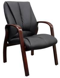 goSIT New Executive Wood Guest Chair, Walnut | National ...