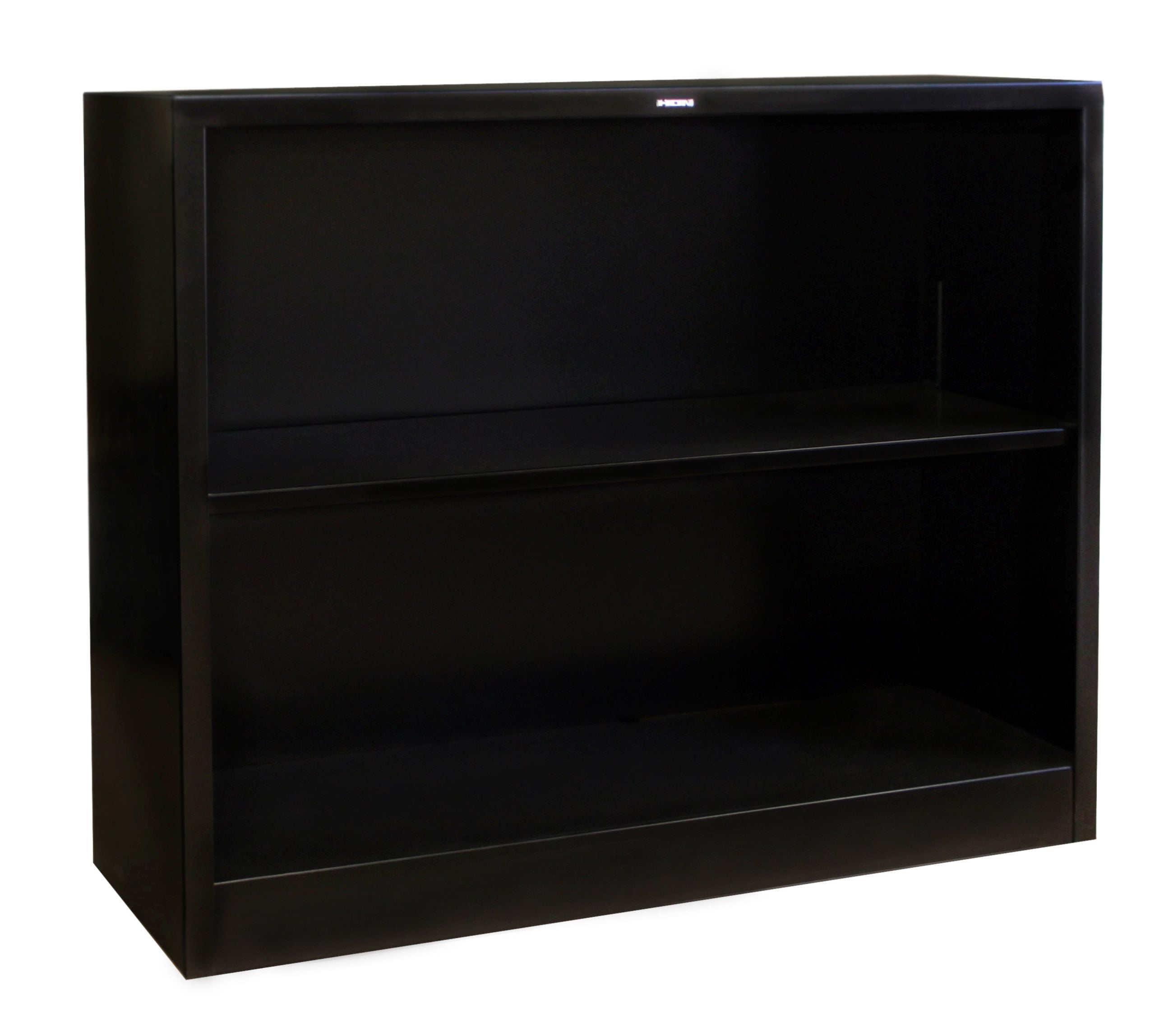 Aluminum Bookcase Hon Used Black 2 Shelf Metal Bookcase National Office