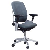 Steelcase Leap Used Task Chair, Green and Blue Pattern ...