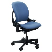 Steelcase Leap Used Task Chair, Light Blue | National ...