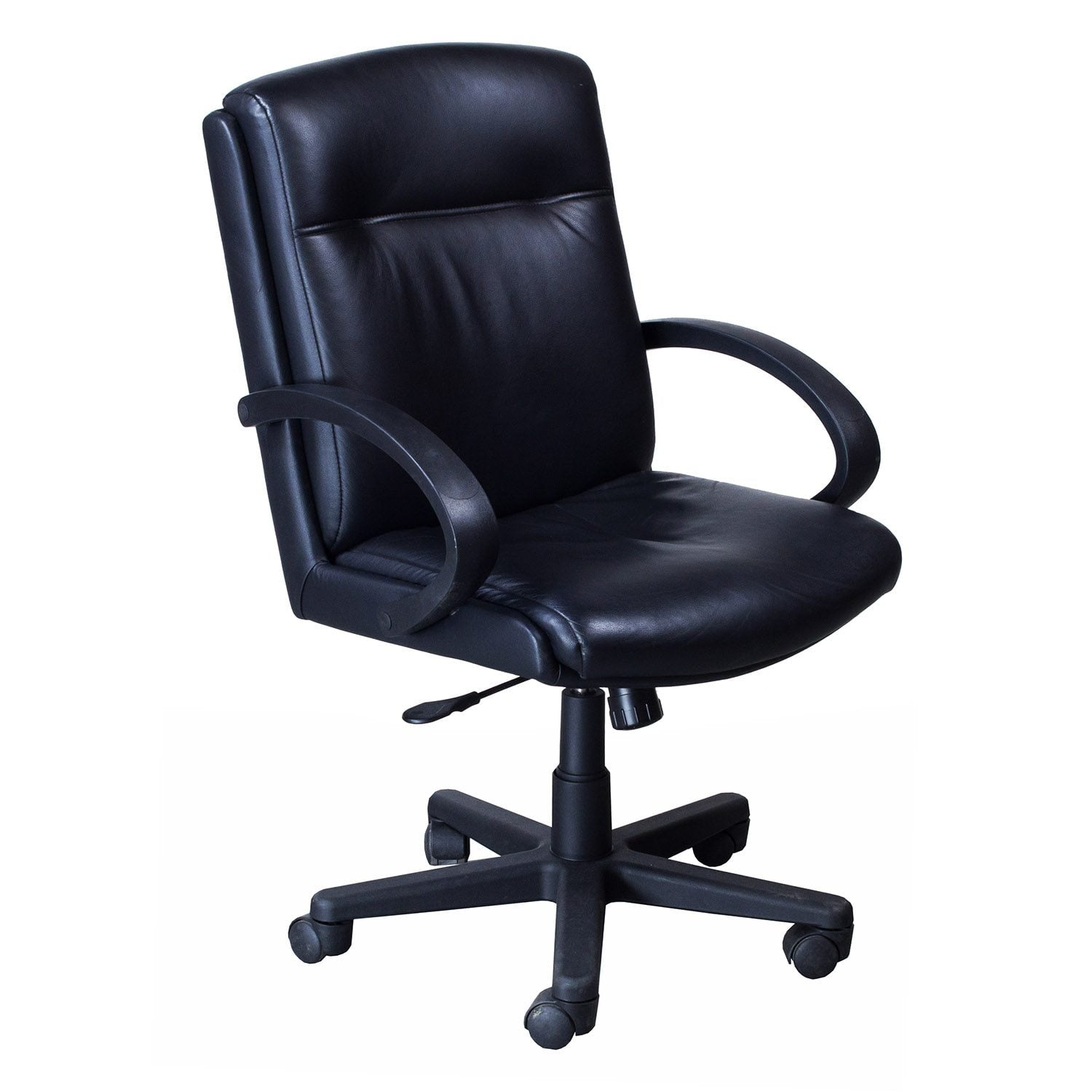 Chairs steelcase turnstone used leather conference chair black