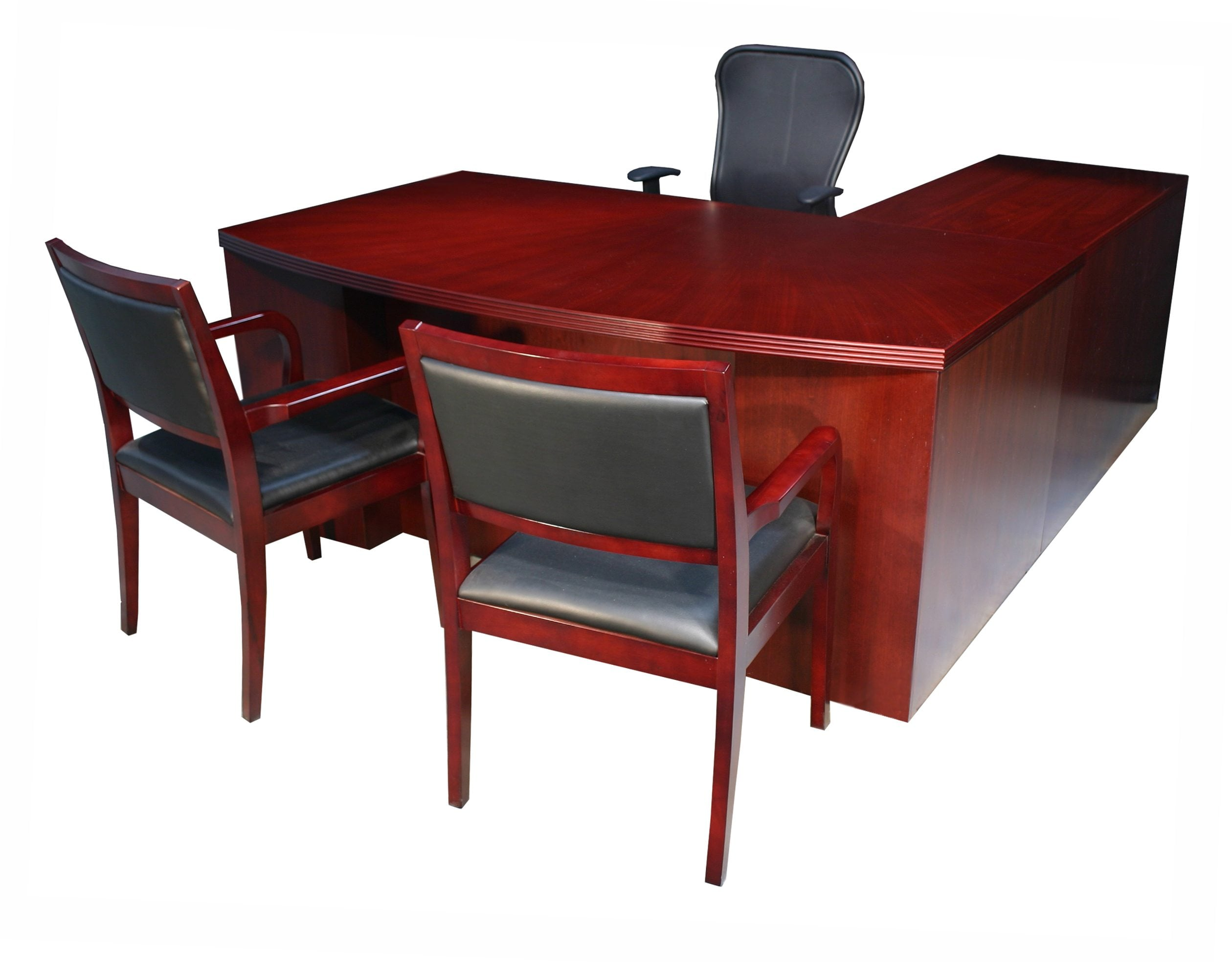 Executive L Shaped Desk Hollywood New Left Return Mahogany Inlay Executive L Shape Desk