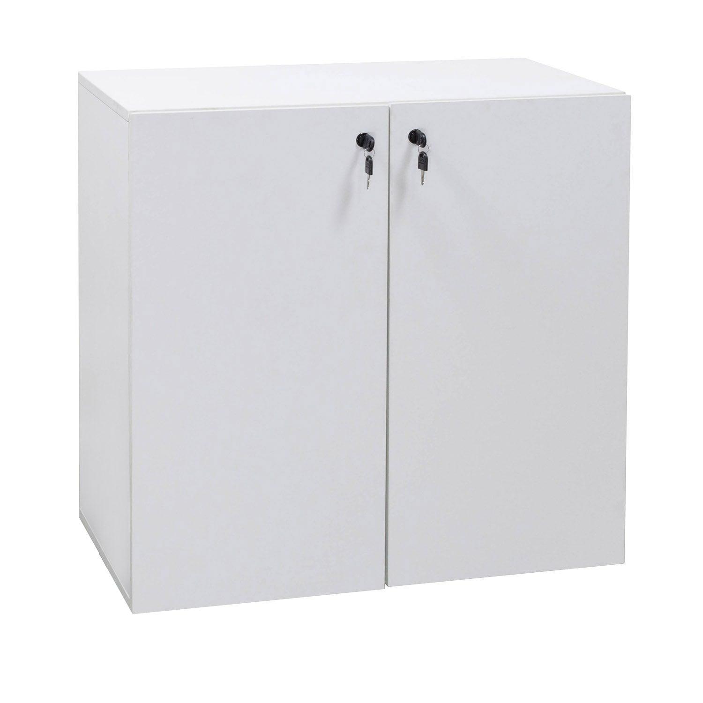 Louis 32 in Melamine Storage Cabinet, White
