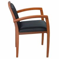 Wood Used Cherry Side Chair, Black | National Office ...