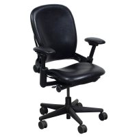 Steelcase Leap Used Leather V1 Task Chair, Black ...
