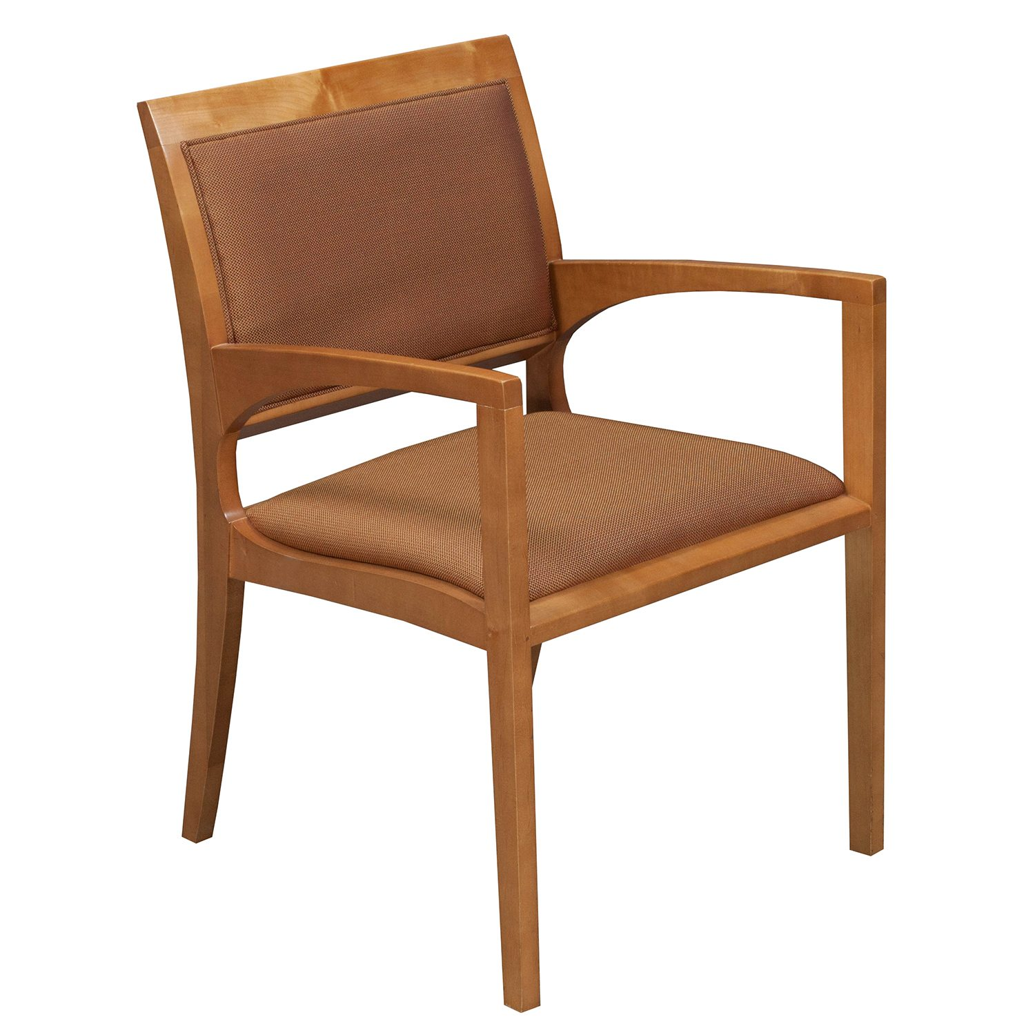 Bernhardt Used Wood Side Chair Tan National Office