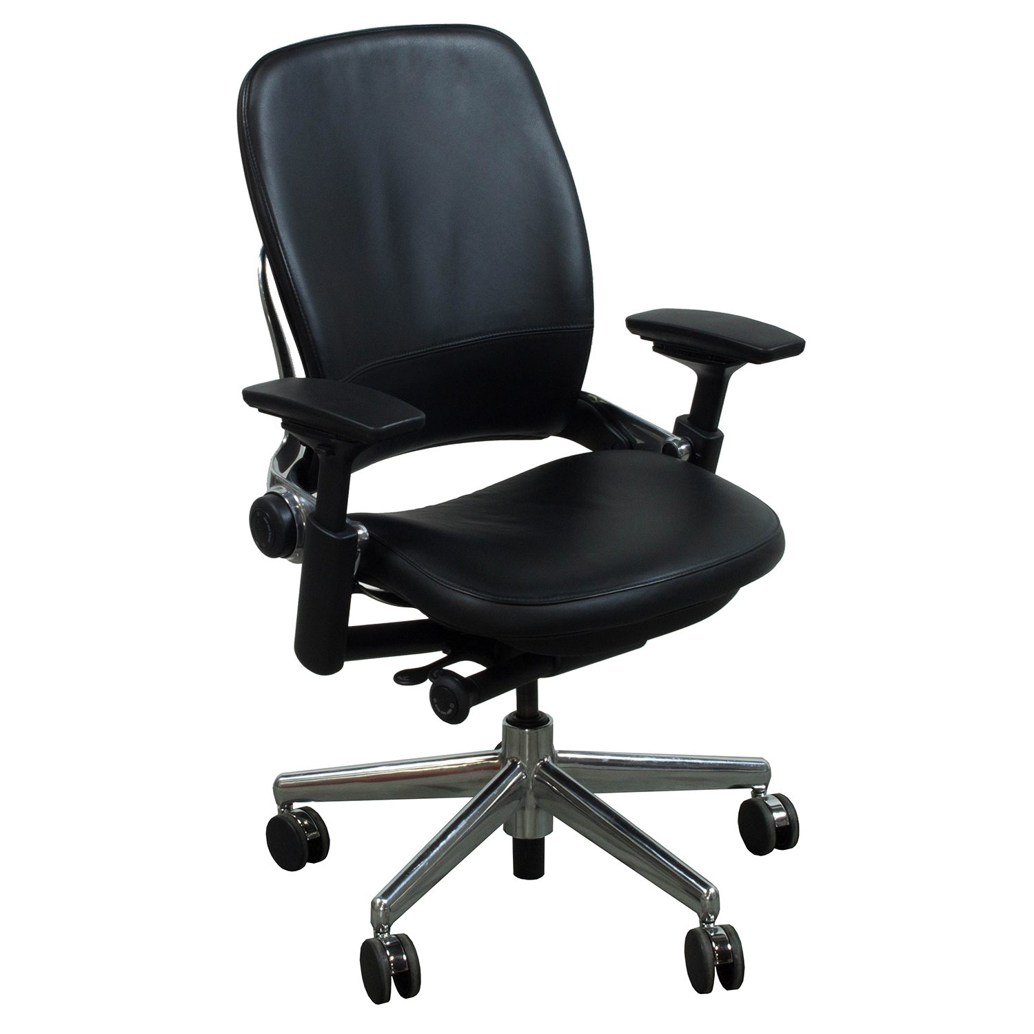 Best Task Chair 2015 Steelcase Leap V2 Used Leather Task Chair Black