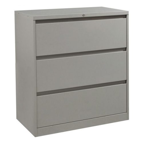 steelcase 900 series used 3 drawer 36 inch lateral file light gray