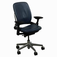 Steelcase Used Leap V2 Leather Task Chair, Navy | National ...